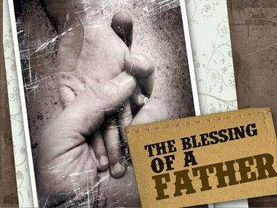 The Blessing of a Father PowerPoint Template 1