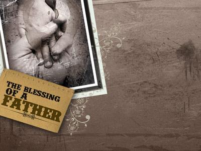 The Blessing of a Father PowerPoint Template 3