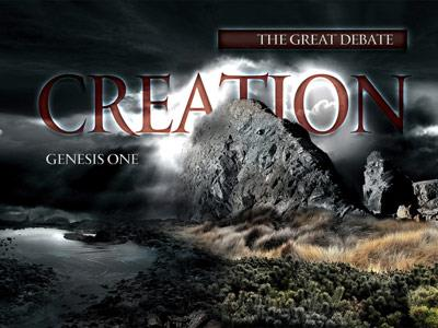 The Creation Debate PowerPoint Template 1