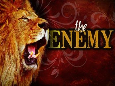 The Enemy Lion PowerPoint Template 1