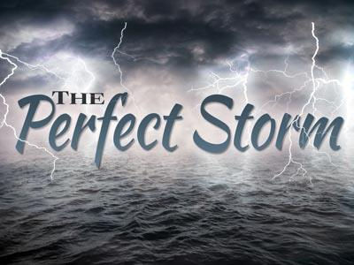 The Perfect Storm PowerPoint Template 1