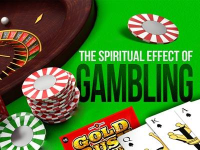 The Spiritual Effect of Gambling PowerPoint Template 1