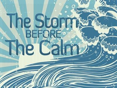 The Storm Before the Calm PowerPoint Template 1