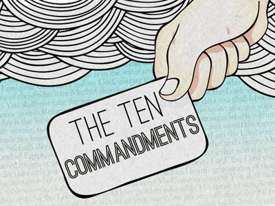 The Ten Commandments PowerPoint Template 1
