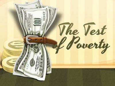 The Test of Poverty PowerPoint Template 1