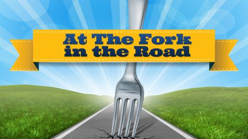 A  Fork in the  Road PowerPoint Template 1