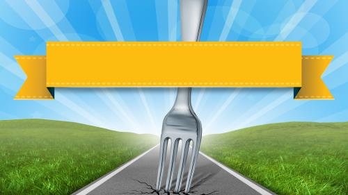 A  Fork in the  Road PowerPoint Template 2