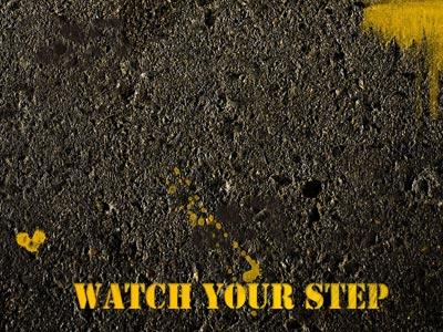 Watch Your Step PowerPoint Template 3
