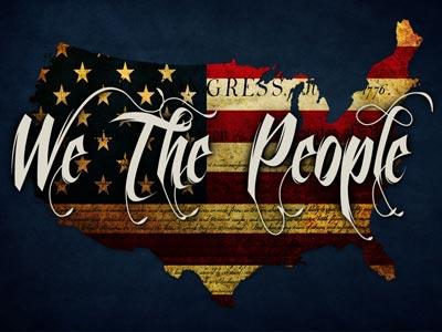 We the People PowerPoint Template 1
