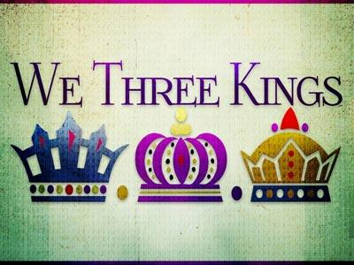We Three Kings with Lyrics PowerPoint Template 1