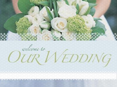 Wedding Welcome Flowers PowerPoint Template 1