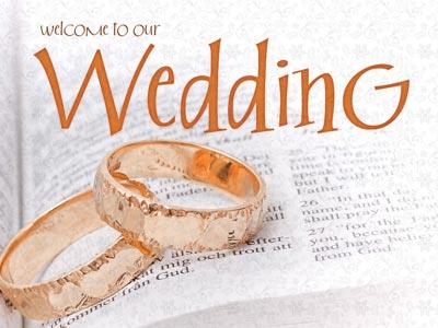 Wedding Welcome Rings PowerPoint Template 1