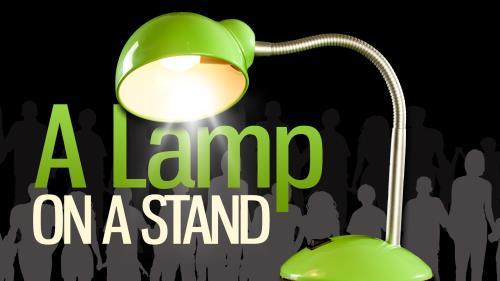 A  Lamp on a  Stand PowerPoint Template