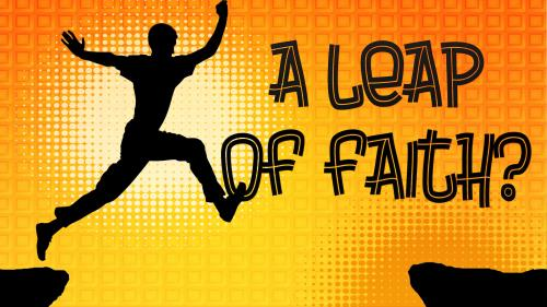 A  Leap of  Faith PowerPoint Template 1