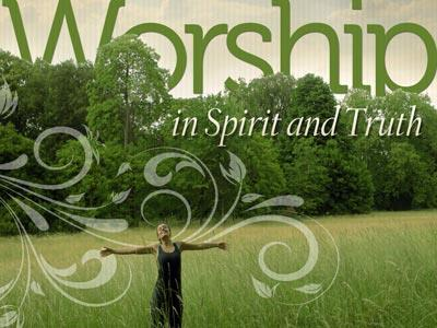 Worship in Spirit and Truth PowerPoint Template 1