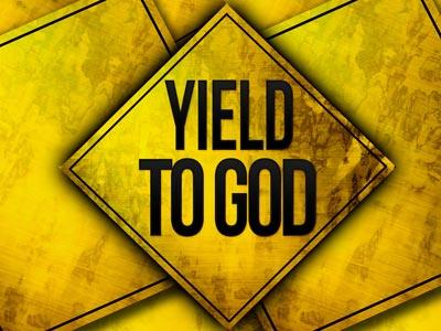 Yield to God PowerPoint Template 1