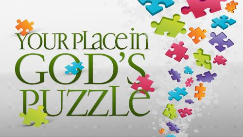 Your Place in God's Puzzle PowerPoint Template 1