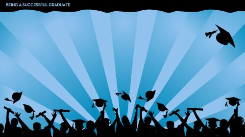 A  Successful  Graduate PowerPoint Template