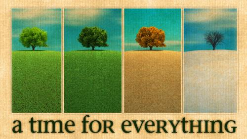 A  Time for  Everything PowerPoint Template 1