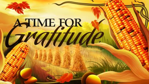 A  Time for  Gratitude PowerPoint Template 1