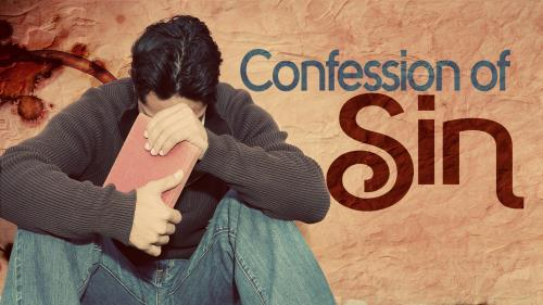 Confession of Sin PowerPoint Template 1