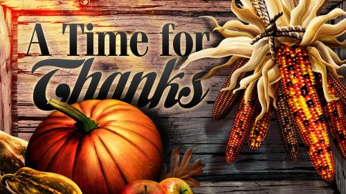 A  Time for  Thanks PowerPoint Template 1