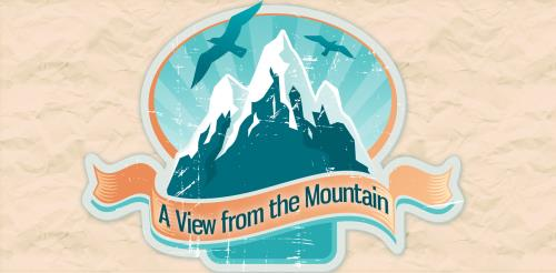 A  View  From the  Mountain PowerPoint Template 1
