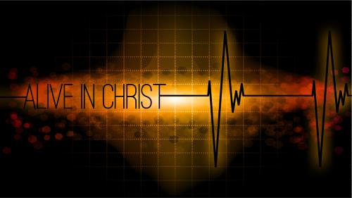 Alive in  Christ PowerPoint Template 1