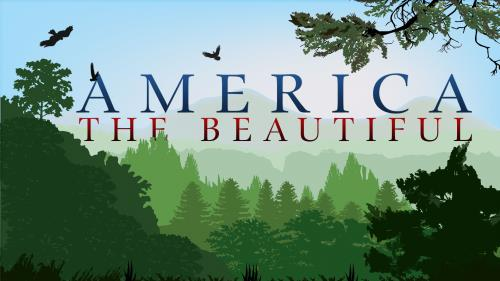 America the  Beautiful 2 PowerPoint Template 1