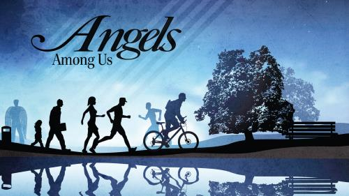 Angels  Among  Us PowerPoint Template 1