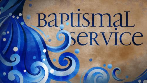 Baptismal  Service PowerPoint Template 1