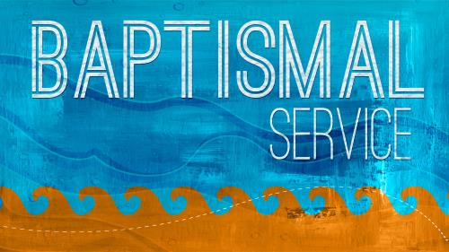 Baptismal  Service 2 PowerPoint Template 1