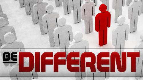 Be  Different PowerPoint Template 1