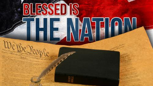 Blessed  Is the  Nation PowerPoint Template 1