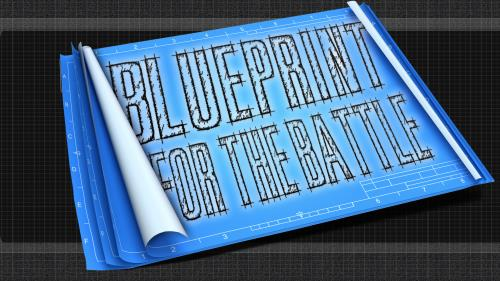 Blueprint for the  Battle PowerPoint Template 1