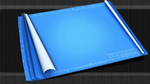 Blueprint for the  Battle PowerPoint Template 2