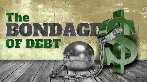 Bondage of  Debt PowerPoint Template