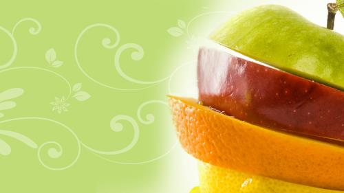 By  Your  Fruit PowerPoint Template