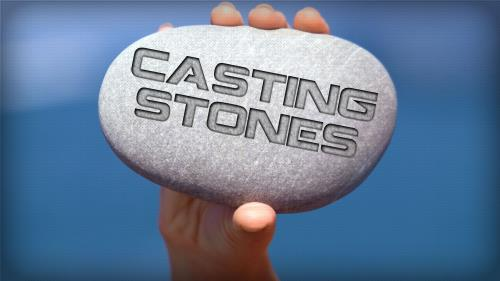 Cast  Stones PowerPoint Template 1