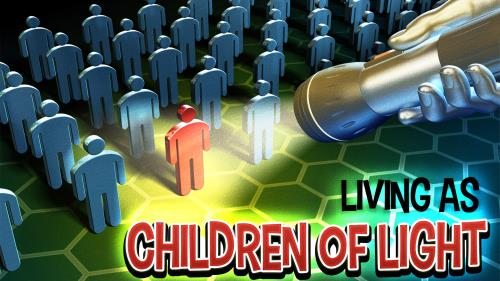 Children of  Light PowerPoint Template 1