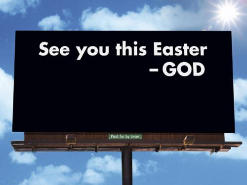 Easter Billboard PowerPoint Template 1