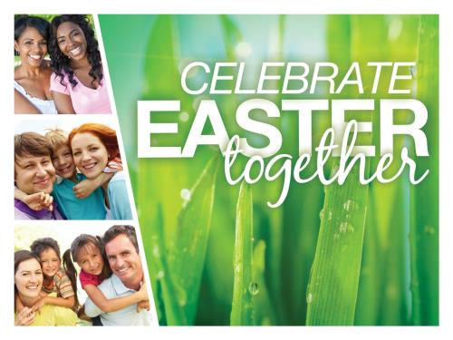 Celebrate Easter Together PowerPoint Template 1