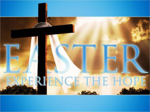 Easter: Experience the Hope PowerPoint Template 1