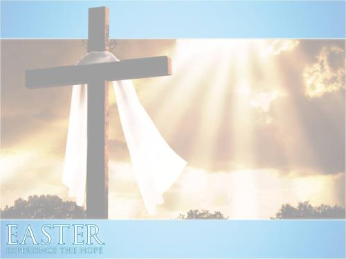 Easter: Experience the Hope PowerPoint Template 2