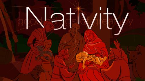 Christmas  Nativity PowerPoint Template 1