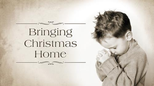 Bringing Christmas Home PowerPoint Template 1