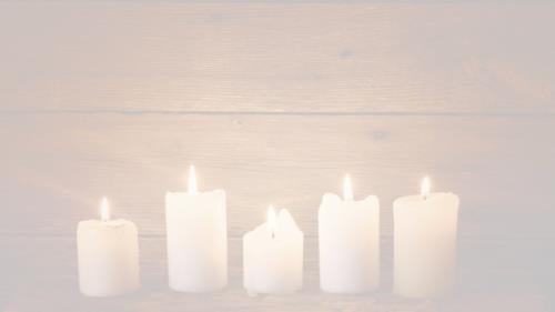 White Candles PowerPoint Template 5