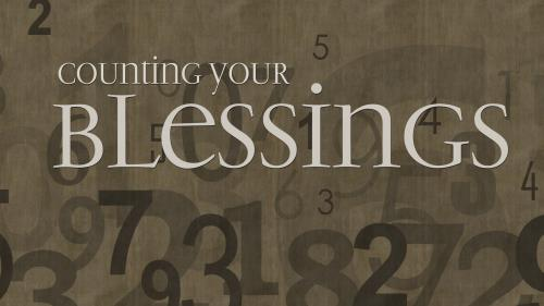Counting  Your  Blessings PowerPoint Template 1