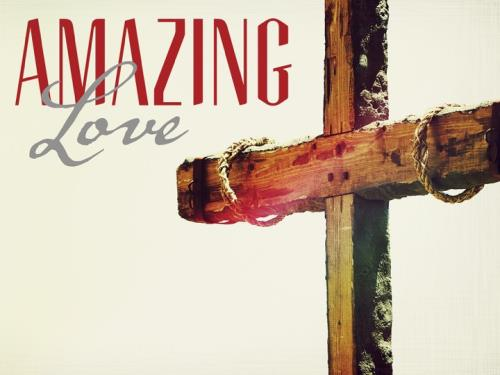Amazing Love Cross PowerPoint Template 1