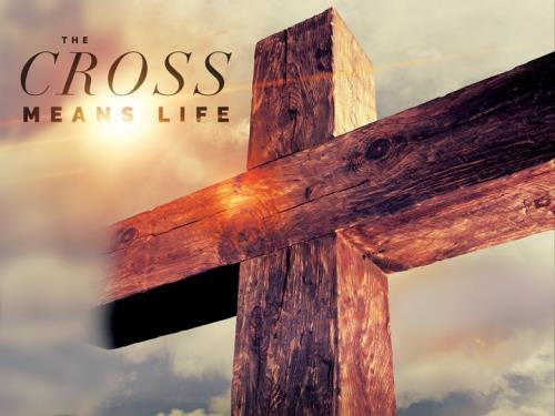 Cross Means Life PowerPoint Template 1